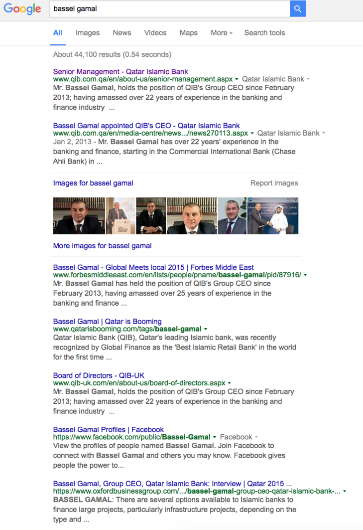 Ashton and Ashton Bassel Gamal Qatar Islamic Bank CEO Google Search Results